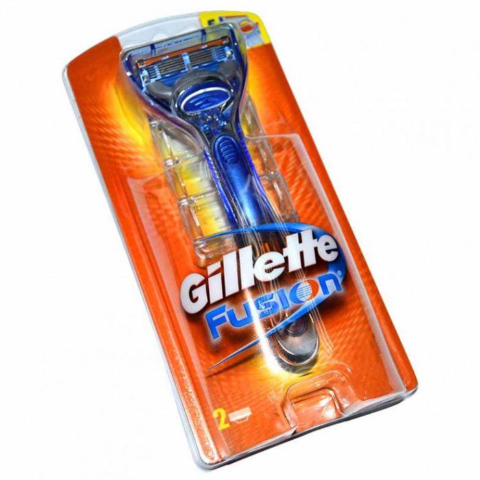 Gillette станок Fusion + 2 сменные кассеты