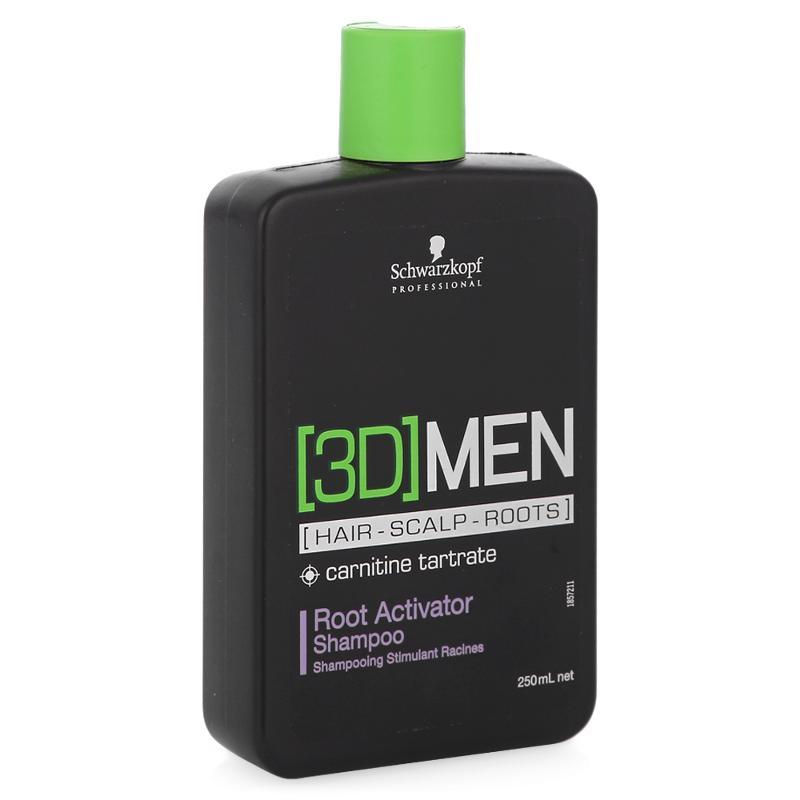 Купить со скидкой Schwarzkopf 3D MEN шампунь активатор роста волос Очищение 250мл