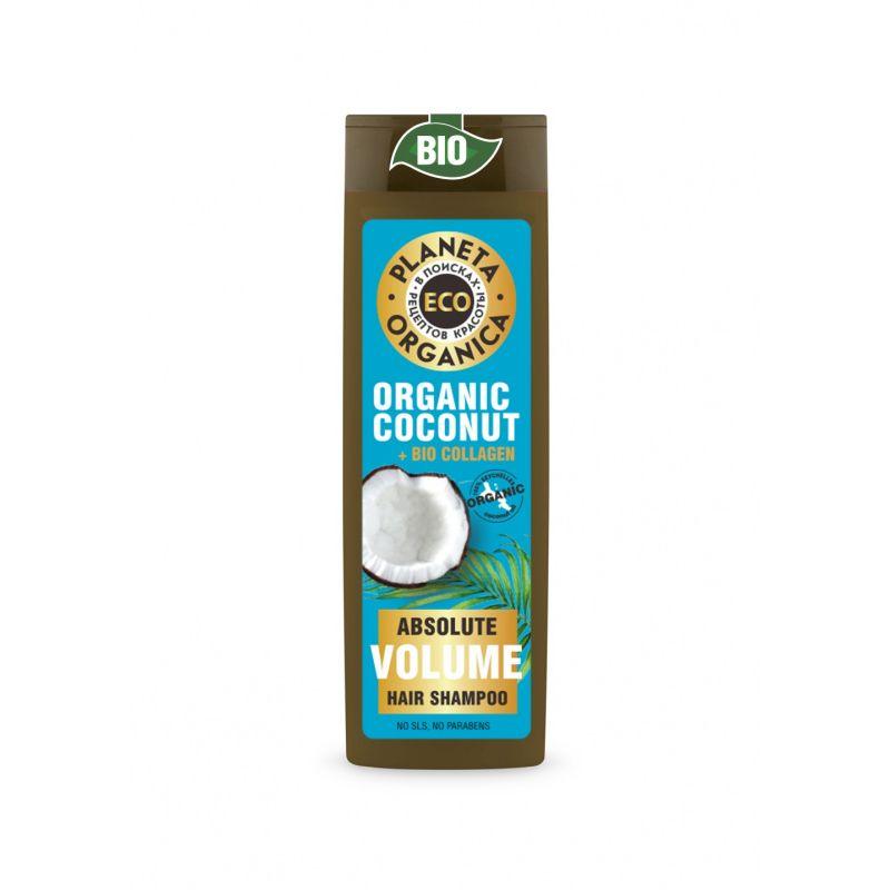 Купить Планета органика ECO шампунь Абсолютный объем Органический кокос + био коллаген 520мл, Planeta Organica
