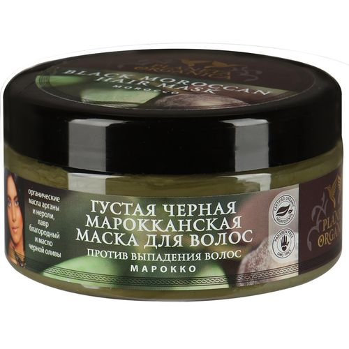 Купить Планета органика Маска для волос густая, черная, марокканская 300 мл, Planeta Organica