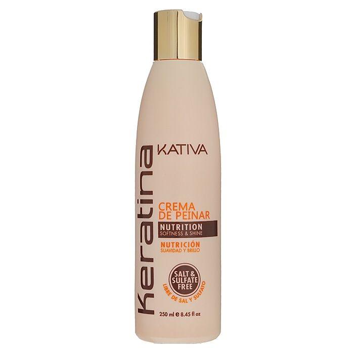 Купить Kativa Keratina укрепляющий крем для укладки с кератином для всех типов волос 250мл