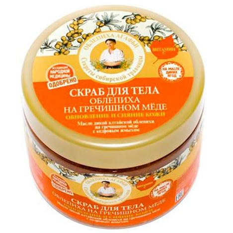 Купить Рецепты Бабушки Агафьи Скраб для тела облепиха на гречишном меде 300мл, Рецепты бабушки Агафьи