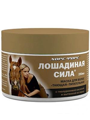 Купить Лошадиная Сила Маска Тающая питательная для волос с вытяжкой из перца и гиалуроновой кислотой 250 мл, Лошадиная сила