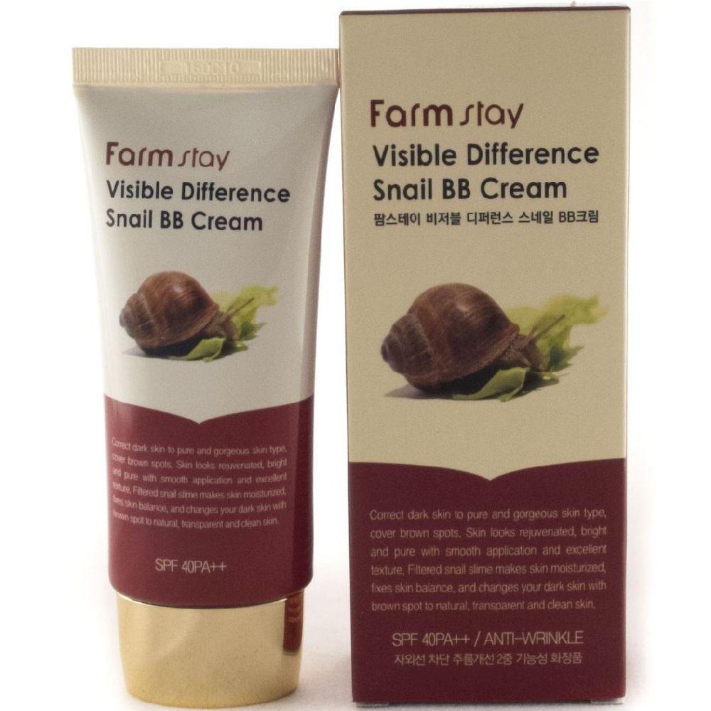 Купить FarmStay Восстанавливающий ББ крем с экстрактом улитки SPF40 PA++, 50гр, Farm Stay
