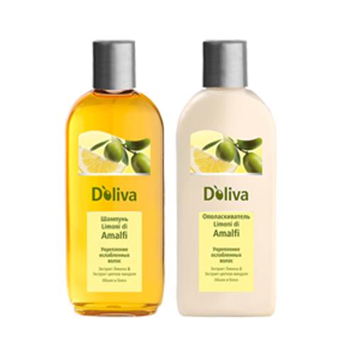 Купить Долива Шампунь для укрепления ослабленных волос Limoni di Amalfi 200 мл, D`Oliva