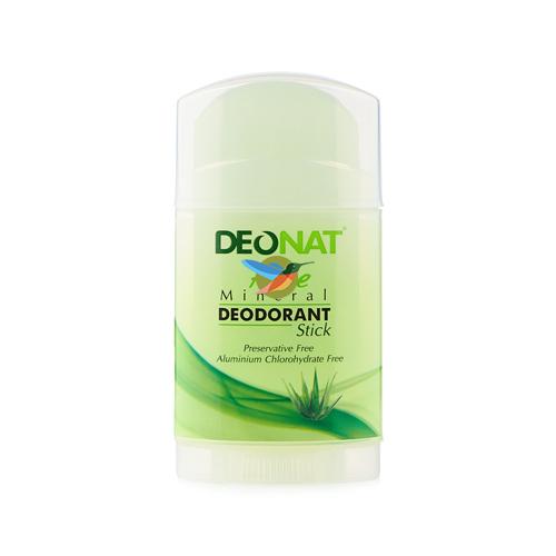 DeoNat Дезодорант кристалл с травами и соком Алоэ плоский 100г