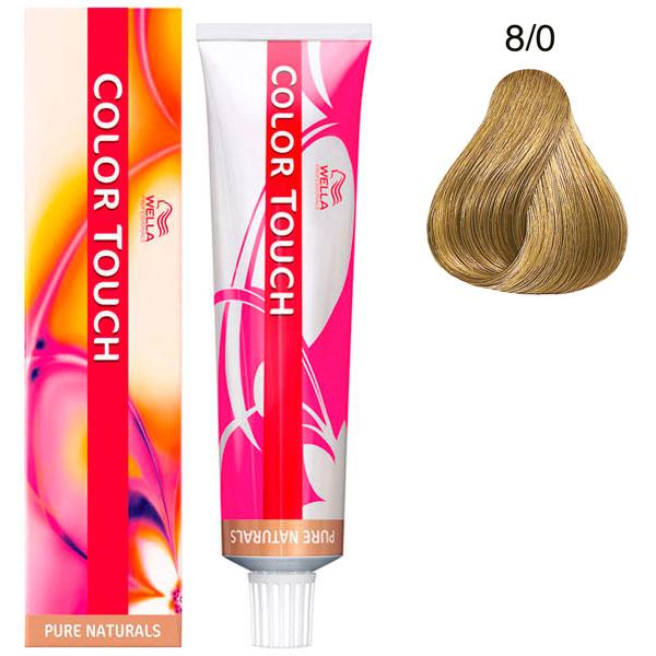 Wella Color Touch Тонирующая крем-краска без аммиака 8/0 светлый блонд 60мл фото