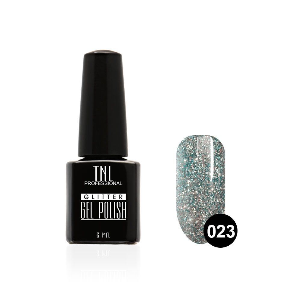 Tnl гель-лак glitter №23 - васильковый