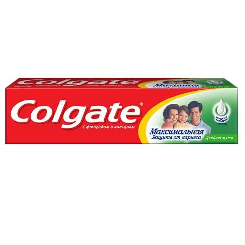Купить Колгейт Зубная паста Максимальная защита от кариеса Двойная мята 50мл, Colgate