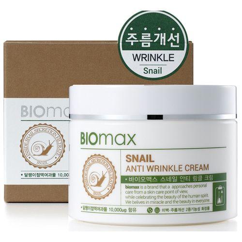 BIOmax крем с экстрактом слизи улитки против морщин 100мл.