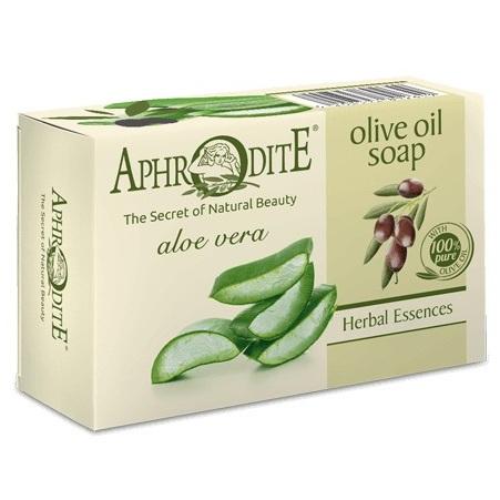 Купить Aphrodite Мыло оливковое с алоэ вера 100 г