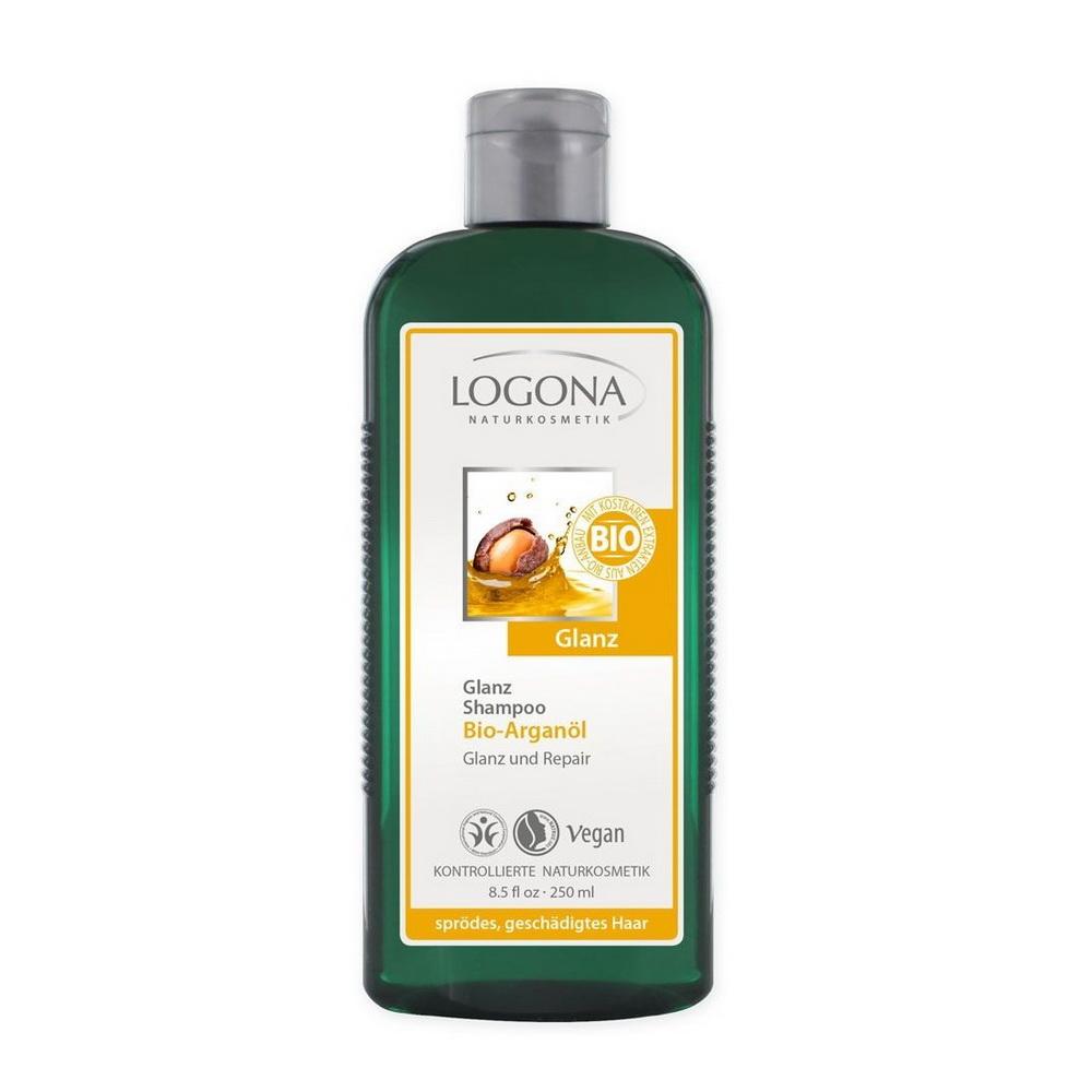 Купить LOGONA Шампунь для Блеска с Био-Аргановым маслом 250 мл