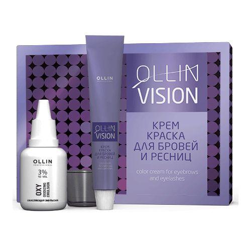 Купить Ollin Professional VISION SET black Крем-краска для бровей и ресниц 20мл