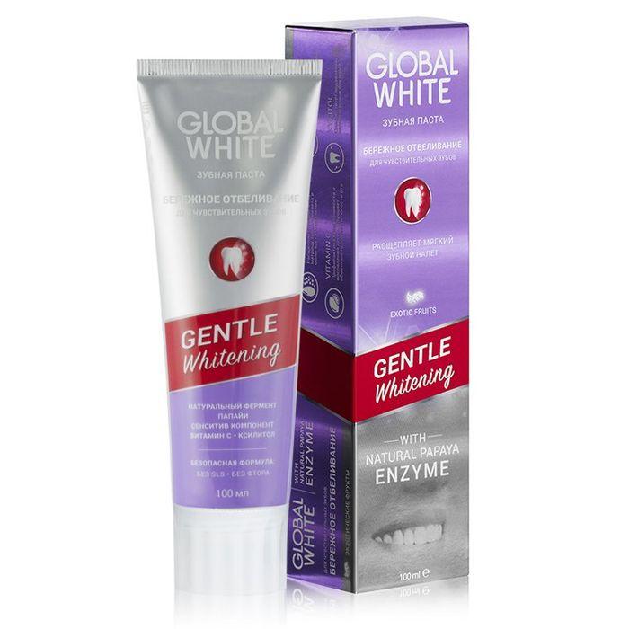 Купить Global white Зубная паста GENTLE WHITENING Бережное отбеливание 100мл