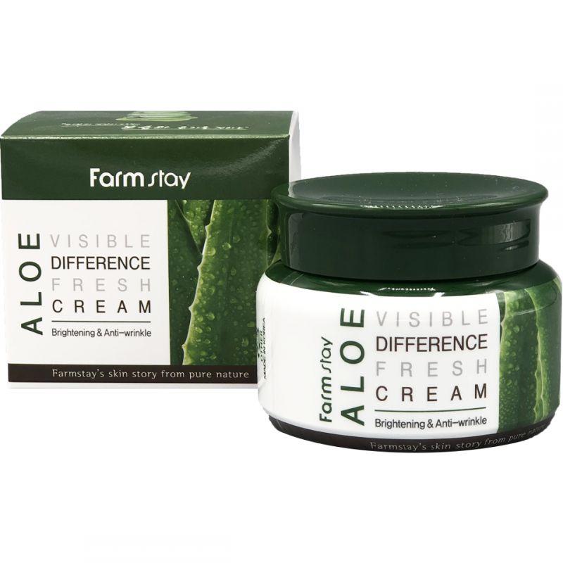 Купить FarmStay Крем для лица увлажняющий с экстрактом алоэ 100г, Farm Stay