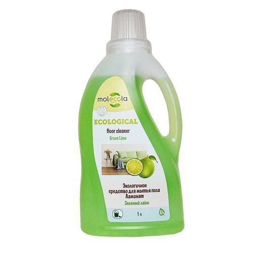 Molecola универсальное моющее средство для пола Ламинат Зеленый лайм 1000мл.