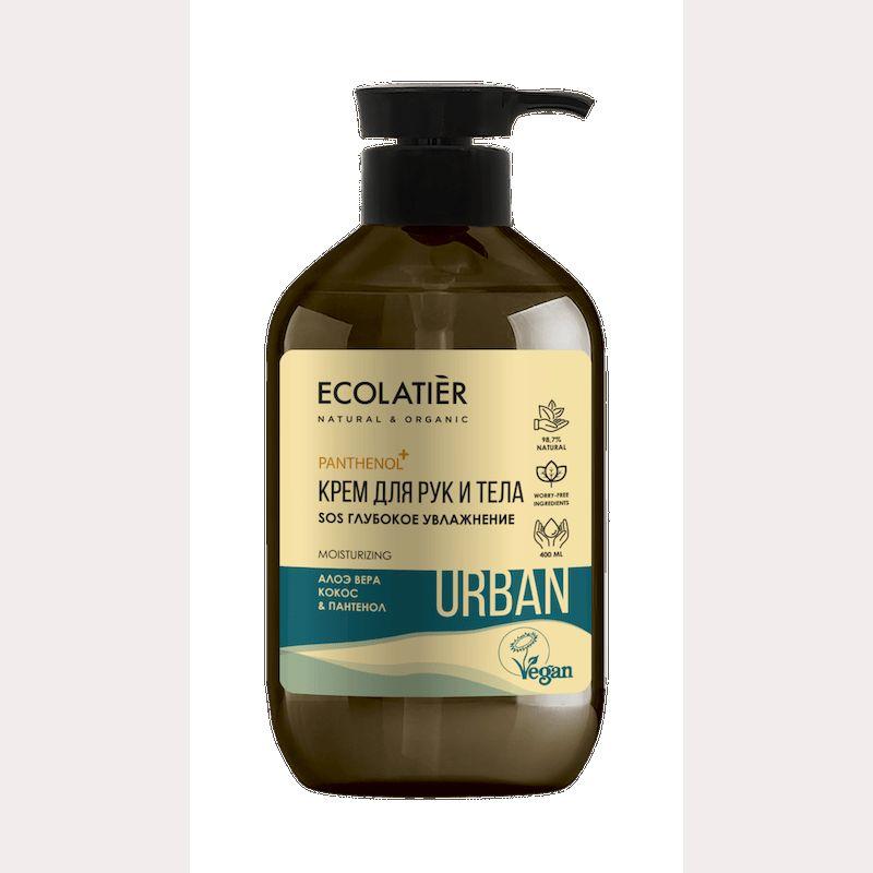 Купить Ecolatier Urban Крем для рук и тела SOS Глубокое увлажнение алоэ вера кокос и пантенол 400 мл