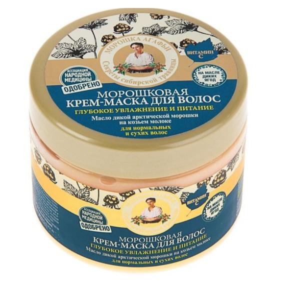Купить Рецепты Бабушки Агафьи Маска для волос глубокое увлажнение и питание морошковая 300мл, Рецепты бабушки Агафьи