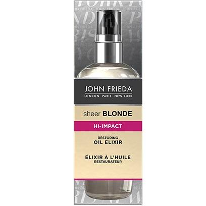 Купить со скидкой John Frieda Sheer Blonde HI-IMPACT Масло-эликсир для восстановления сильно поврежденных волос 100 мл