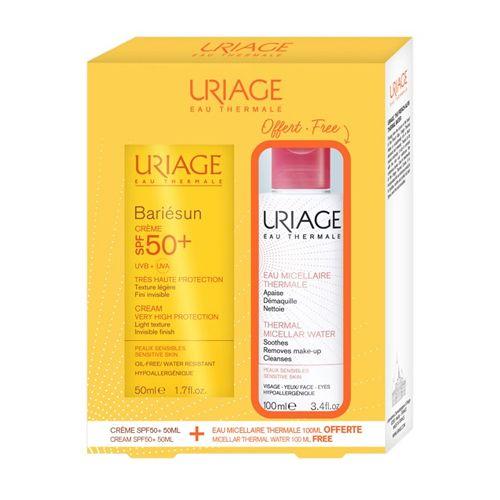 Урьяж (Uriage) Bariesun SPF50+ крем 50мл+мицеллярная вода для чувствительной кожи 100мл