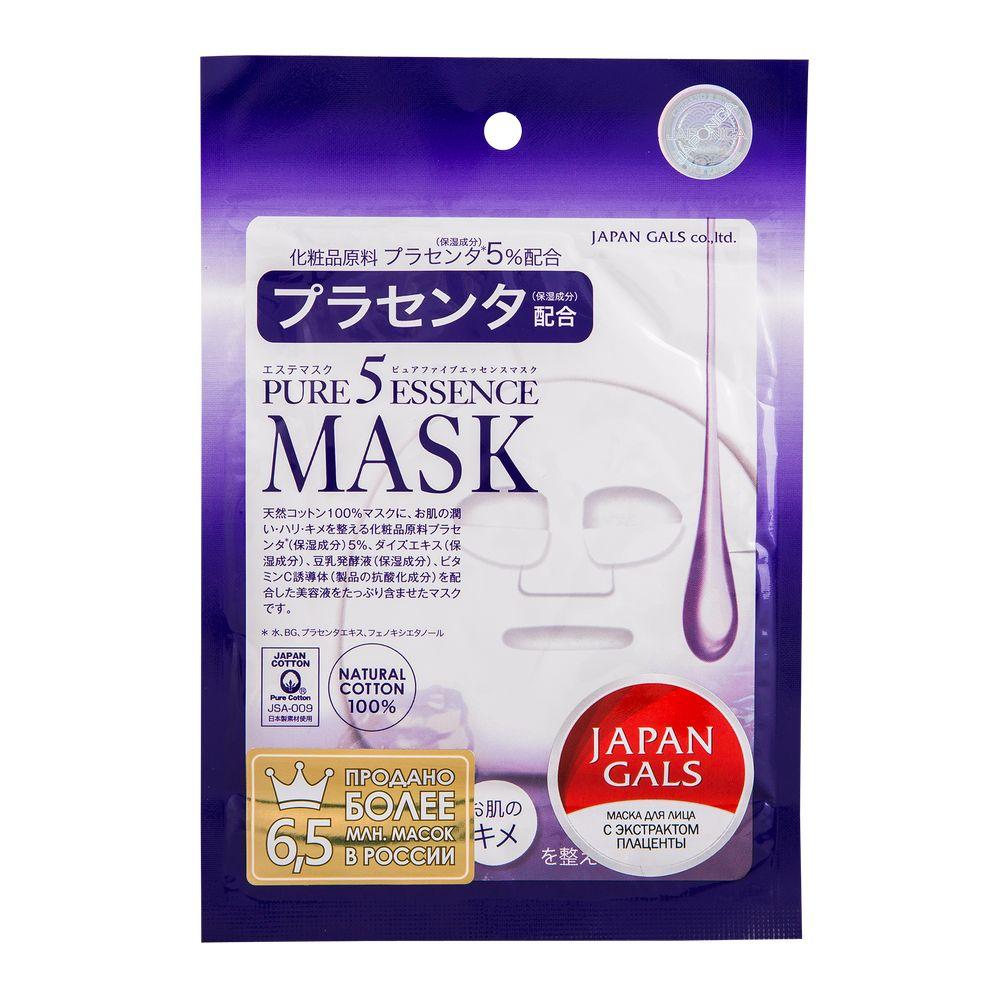 Купить Japan Gals Маска с плацентой Pure5 Essential 1 шт