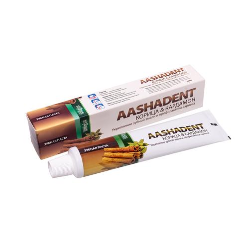 Aasha Зубная паста Корица-Кардамон 100мл фото