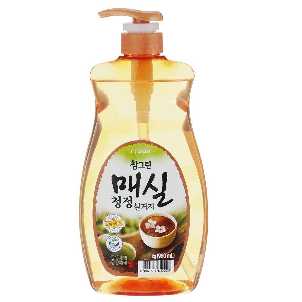 LION Лион CJ Сhamgreen средство для мытья посуды Японский абрикос (насос-дозатор)1000 мл