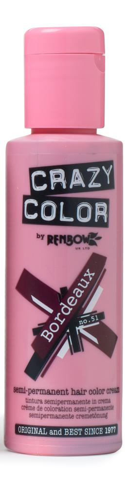 Crazy color краска для волос bordeaux / бордовый 51 100мл