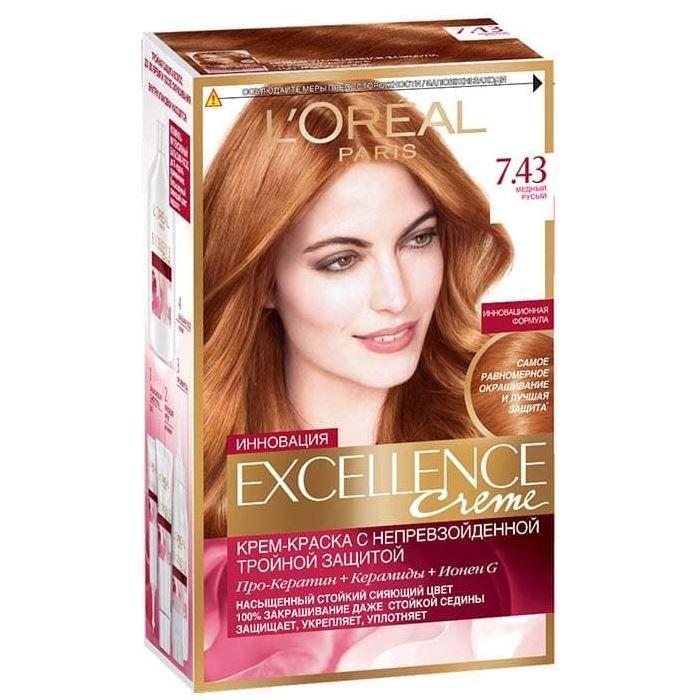 Купить Loreal Paris EXCELLENCE Краска для волос тон 7.43 Медный русый