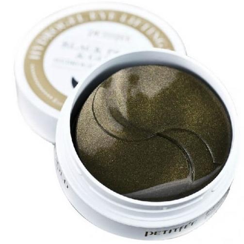 Купить Petitfee патчи для век гидрогелевые Black Pearl&Gold Hydrogel Eye Patch 60шт