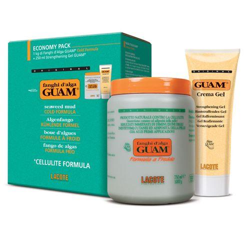 Guam Гуам Маска антицеллюлит. с охлажд.эффектом 1кг+Гель-лифтинг укрепляющий 250мл FANGHI DALGA 1250г 0461