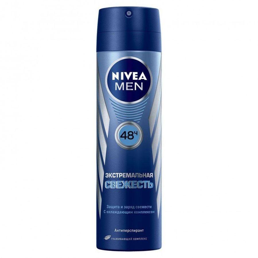 Купить Nivea антиперспирант для мужчин Экстремальная свежесть спрей 150мл