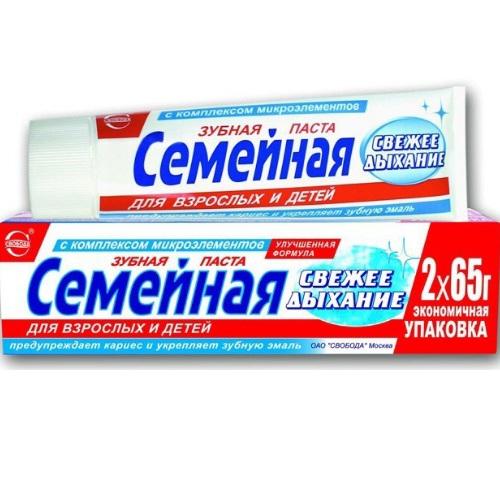 Зубная паста Семейная Свежее дыхание 130г Свобода  - Купить