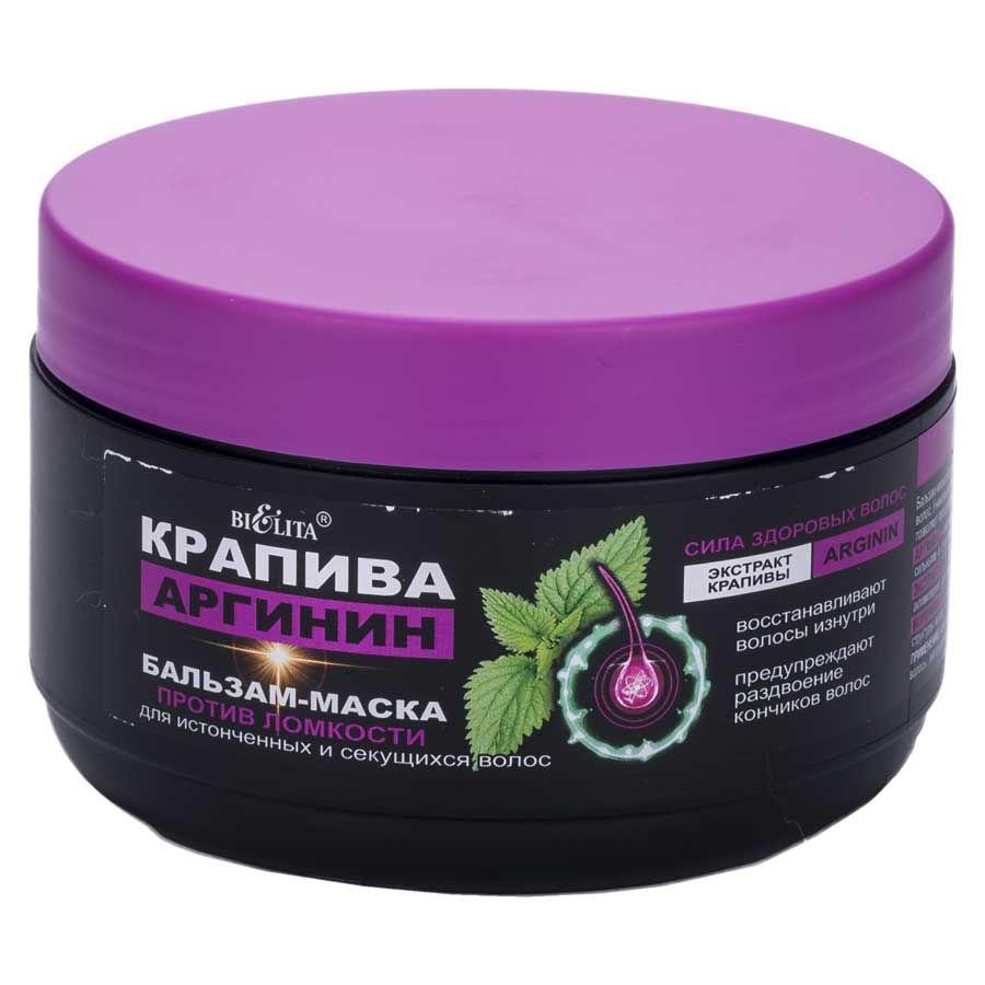 Купить Белита Бальзам-маска Крапива-Аргинин против ломкости для секущихся волос 350мл