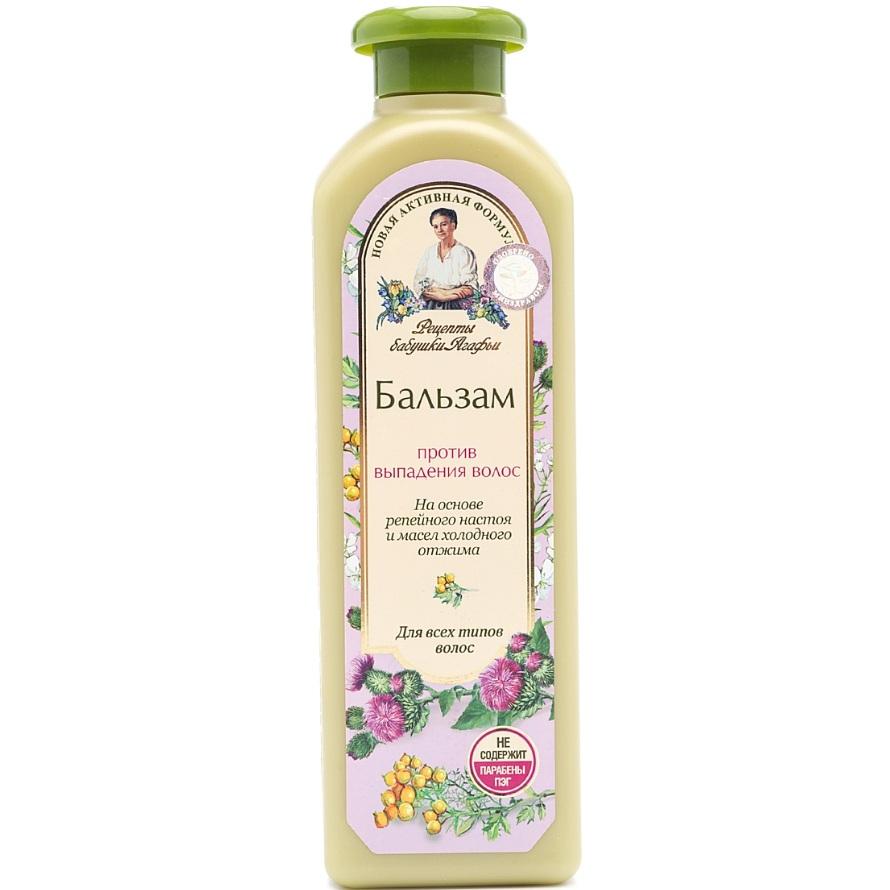 Купить Рецепты Бабушки Агафьи Бальзам для волос Против выпадения для всех типов 350мл, Рецепты бабушки Агафьи