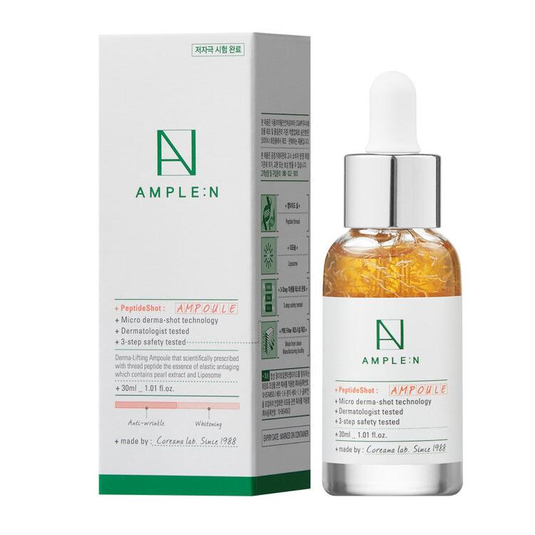 Купить Amplen Peptide Shot Ampoule Омолаживающая ампула с пептидами 30мл, AMPLE:N