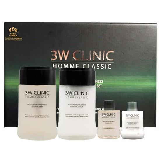 Купить 3W Clinic Набор для мужчин Увлажнение и свежесть HOMME Classic Moisturizing Freshnes
