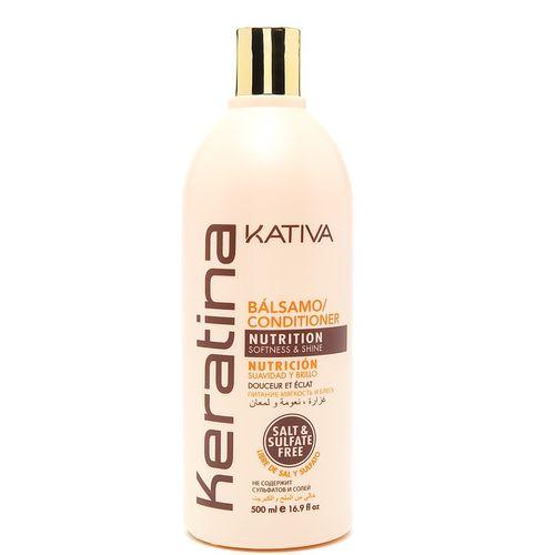 Купить Kativa Keratina укрепляющий бальзам-кондиционер с кератином для всех типов волос 500мл