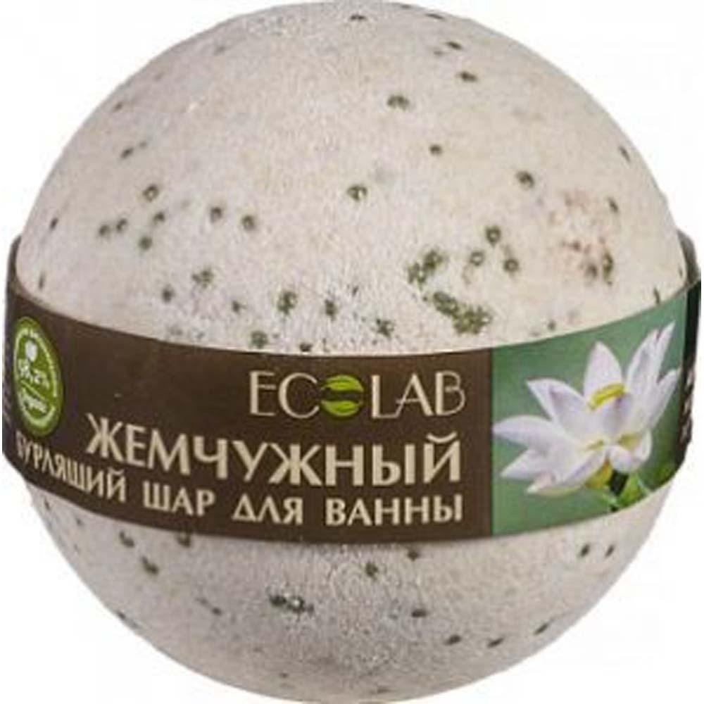 Эколаб Бурлящий шар для ванны Белый лотос и пальмроза