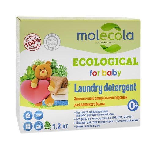Купить Molecola порошок стиральный для стирки детского белого и цветного белья 1, 2кг