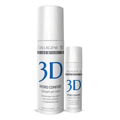 Купить Коллаген 3Д Гель-маска для лица HYDRO COMFORT с аллантоином для раздраженной и сухой кожи 130 мл, Collagene 3D