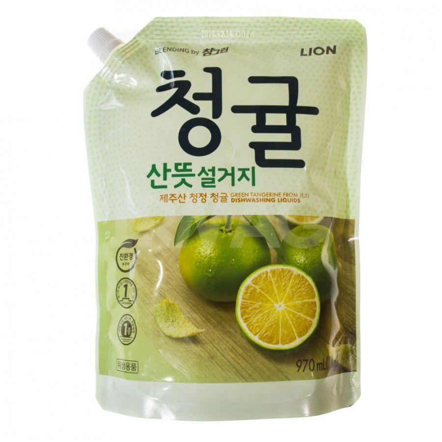 Купить Lion Chamgreen средство для мытья посуды овощей и фруктов Зеленый цитрус 970мл
