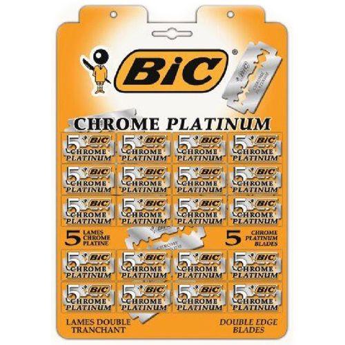 Bic Лезвия для станка Chrome Platinum 20 штук по 5 лезвий на карте