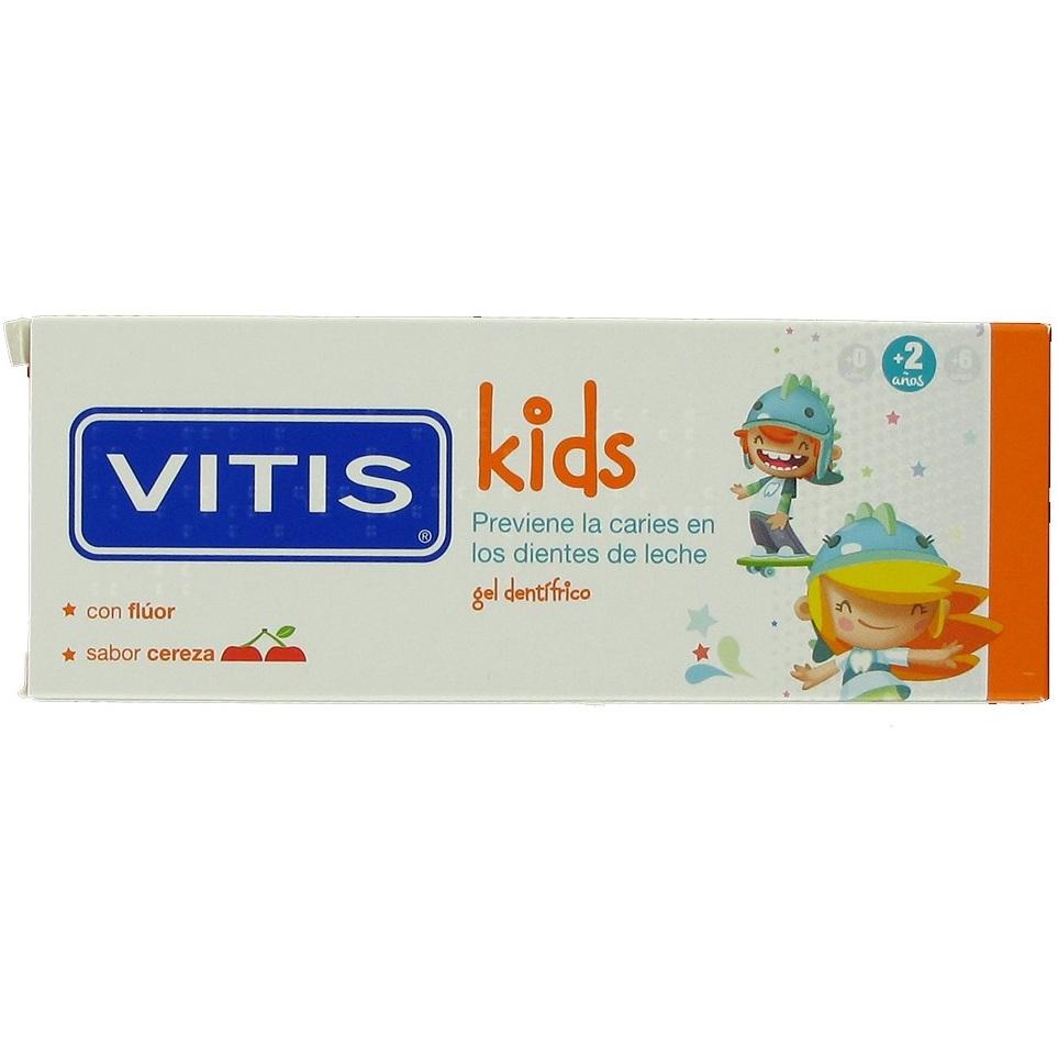 Купить Dentaid Зубная паста-гель VITIS Kids детская, от 2+ лет, со фтором 1000ppm, вкус вишня, 50мл