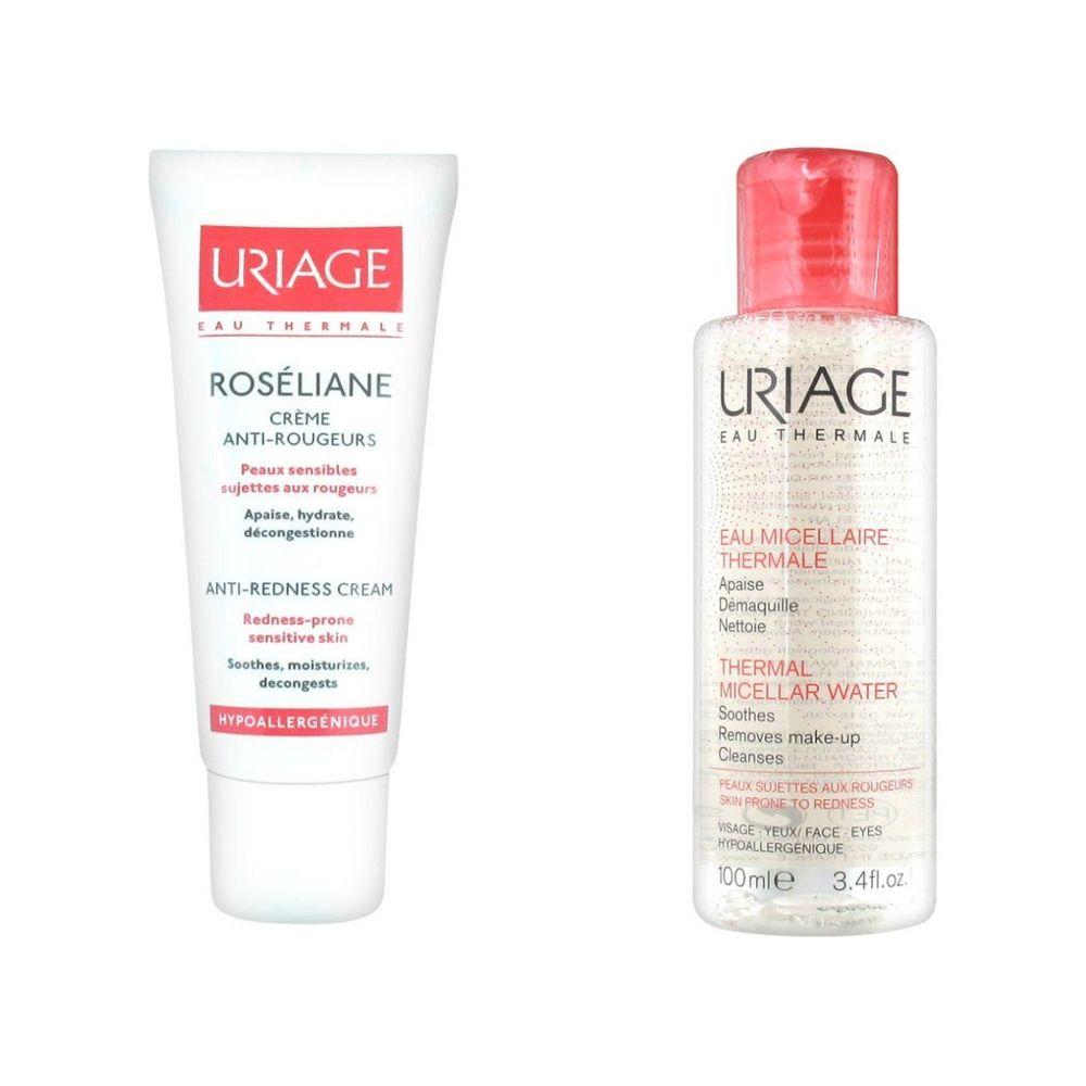 Урьяж (Uriage) Roseliane Набор: крем 40мл + мицеллярная вода для чувствительной кожи 100мл
