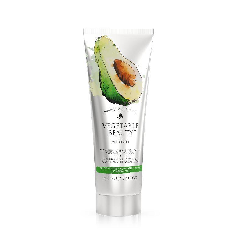 Купить Vegetable Beauty крем для ухода за сухой и огрубевшей кожей ног с маслом авокадо 200 мл