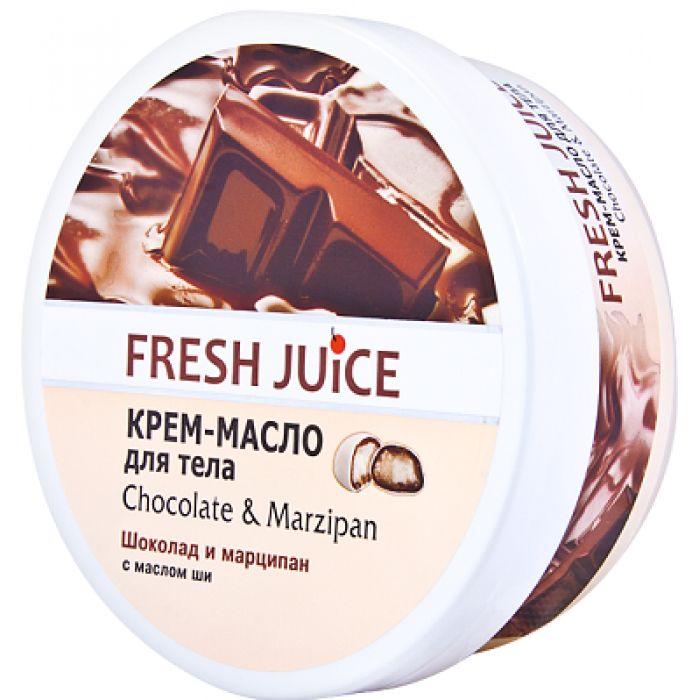 Fresh Juice Крем-масло для тела шоколад и марципан с маслом ши 225 мл  - Купить