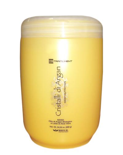 Купить Brelil Маска для волос с маслом Аргании и молочком Алоэ 1000мл, Brelil professional