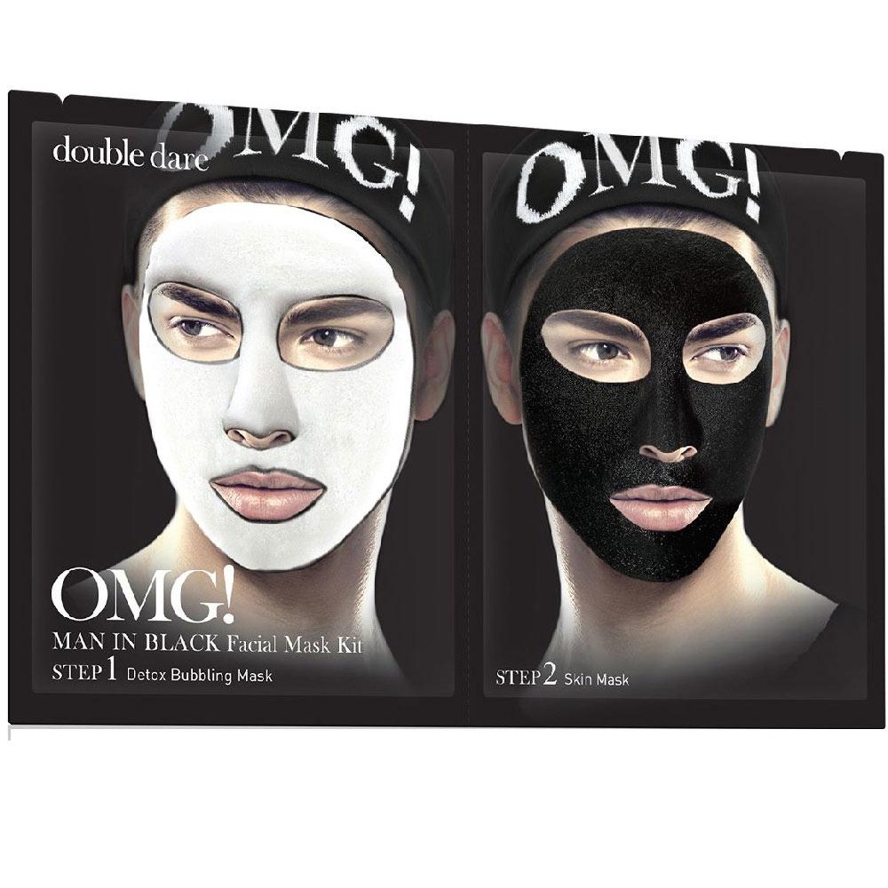 Double Dare OMG! Man in Black двухкомпонентный комплекс мужских масок ДЕТОКС