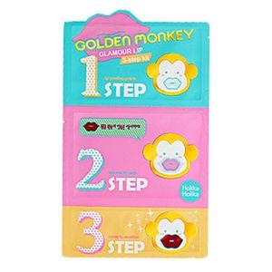 Холика Холика Golden Monkey 3-х ступенчатый набор средств для ухода за губами Гламур липс 7 г*3